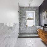 Cement Timber Wood Greyscale Bathroom