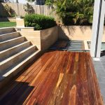 Spotted Gum Decking on Steel Frame