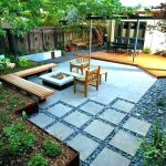 Backyard Stepping Stones and Timber Decking